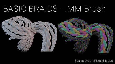 Basic Braid Hair Strands, IMM Brush