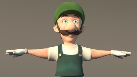 cartoon character luigi
