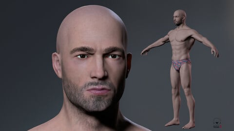Male Body Low-poly