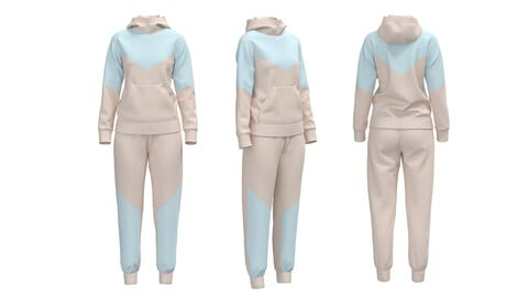 Hoodie + Pants. Clo3d, Marvelous Designer project + OBJ + FBX