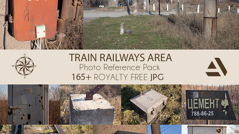 Photo Reference Pack: TRAIN  STATION AREA  AND RAILWAYS