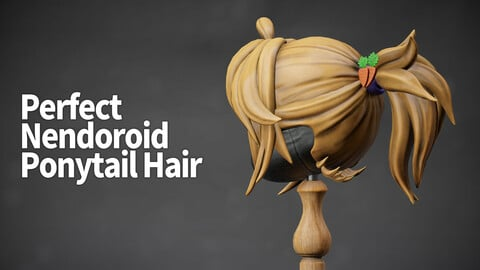 Ponytail Hair for Nendoroid