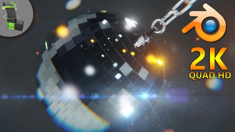 Animated Disco Ball | Blender 2.9x Eevee