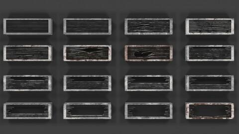 Ventilation Grates Low-Poly