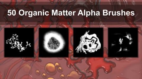 50 Alpha Brushes - Organic Matter