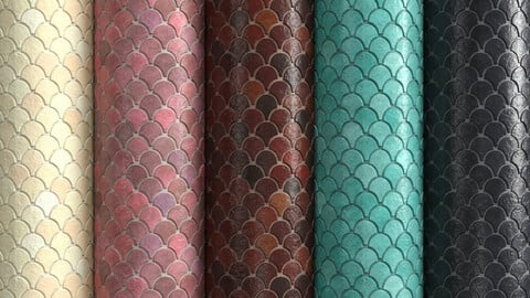 Materials 6- Fish scale tiles PBR