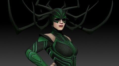 Hella From Thor Ragnarok for 3d printing