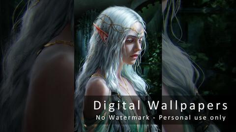 Lady Elluna - Digital Wallpapers