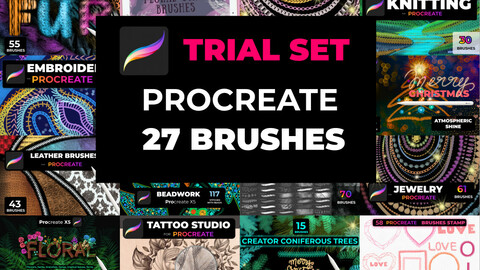 Trial set of 27 brushes Procreate