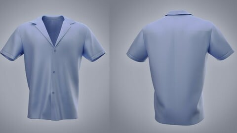Male Silk Shirt 3D model