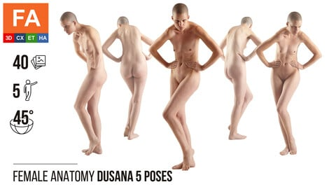 Female Anatomy | Dusana 5 Various Poses | 40 Photos