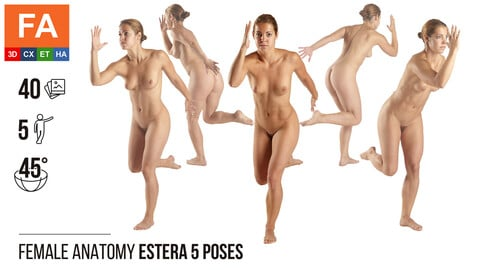 Female Anatomy | Estera 5 Gymnastic Poses | 40 Photos
