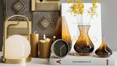 decorative set brown Glass