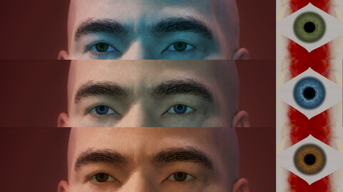 16 Colors of Realistic Eye (free demo)