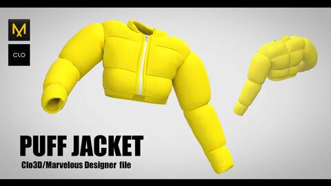 PUFF JACKET / Marvelous Designer - CLO 3D (project + DAZ avatar)