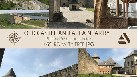Photo Reference Pack:  CASTLE and the area near by Castle on the Hill