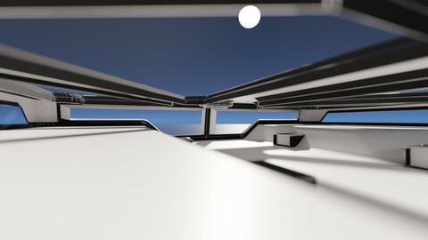 Sci-fi construction 3D model