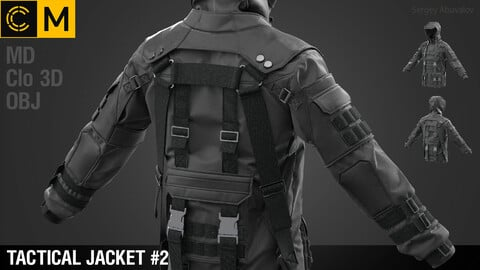 Tactical jacket #2 / Marvelous Designer / Clo 3D project + obj