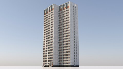 Russian 22 Storey Apartment Panel House