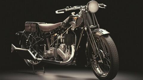 Vintage motorcycle, cafe racer Ariel 550 SV 1928