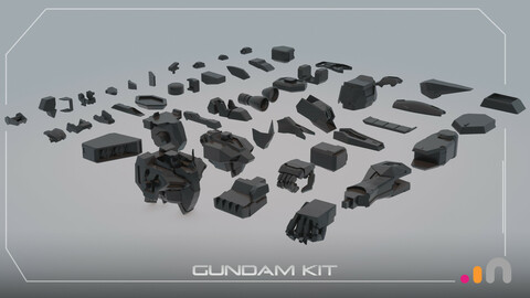 Gundam Kit || Oculus/Adobe Medium Kitbash Stamps