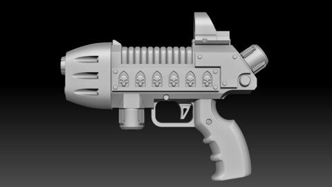 Cosplay 40k Plasma Pistol for 3D printing