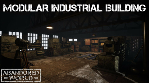 Modular Industrial Building for UE4