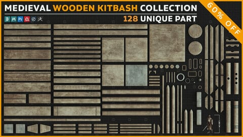 Medieval Wooden Kitbash Collection