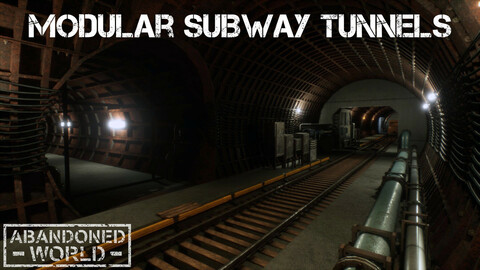 Modular Subway Tunnels for UE4