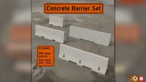 Concrete Barriers Pack