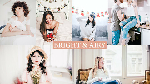 Photoshop Actions + ACR Presets + lightroom presets Bright Airy Tones