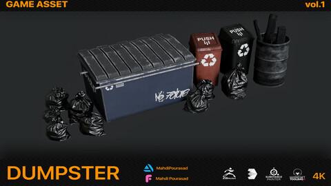 Dumpster Game Asset