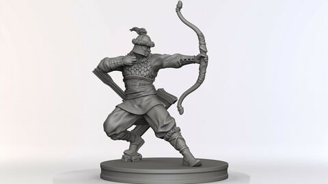 Asudai:  the Archer (free 3D Model)