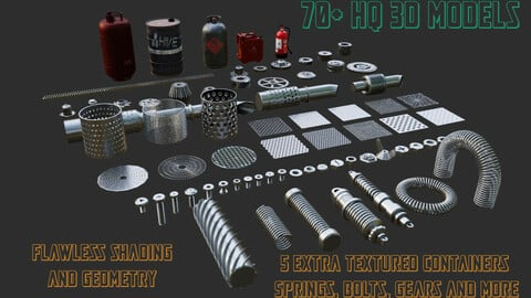 Engineering kitbash insterts pack (70+ models)