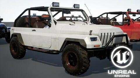 UE4 Rigged Vehicle Setup Driveable Animated SUV car
