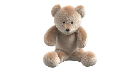 Teddy bear. Clo3d, Marvelous Designer project + OBJ + FBX