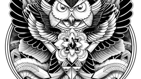 T shirt owl illustration