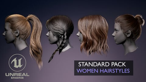 Real-time Women Hairstyles - Standard Pack