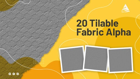 20 tileable fabric alphas
