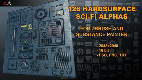 126 Hardsurface Sci-Fi alphas