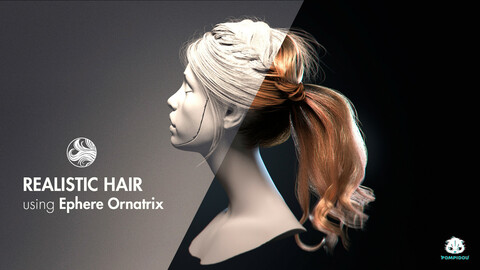 Tutorial. 3d realistic hair in Ornatrix