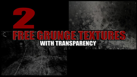 FREE GRUNGE TEXTURES WITH TRANSPARENCY