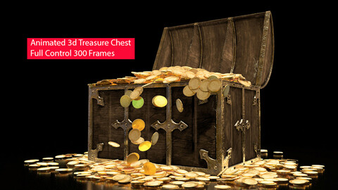 Animated Treasure Chest 3d Model 3D model