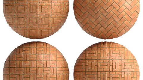 Materials 8- Brick Tiles PBR in 4 Patterns