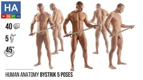 Human Anatomy | Bystrik 5 Various Poses | 40 Photos