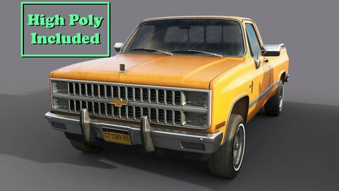 Chevrolet C10 1982 Orange