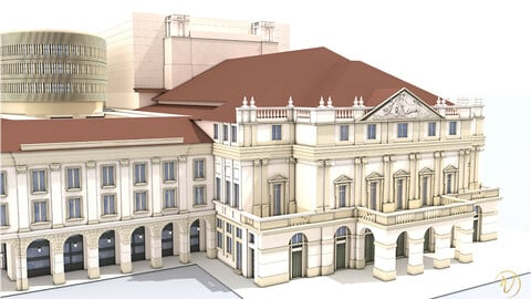 Opera theatre - Teatro alla Scala - Exterior - Milan - Italy