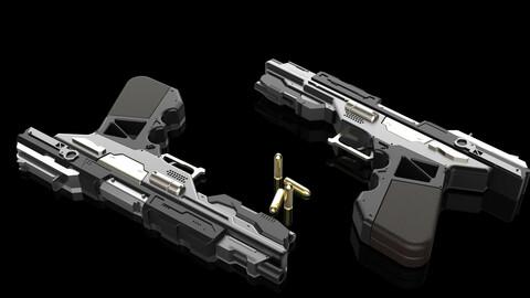 3D Sci-fi Glock