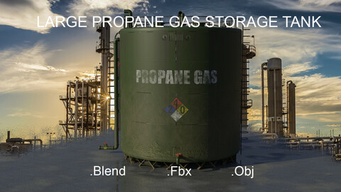 Large Industrial Propane Gas Storage Tank