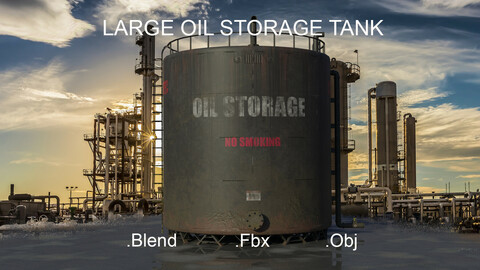 Large Industrial Oil Storage Tank